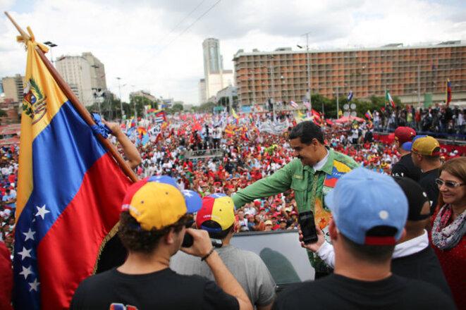 Meeting de fin de campagne électoral de Maduro et ses partisans à Caracas le 17 mai © AVN