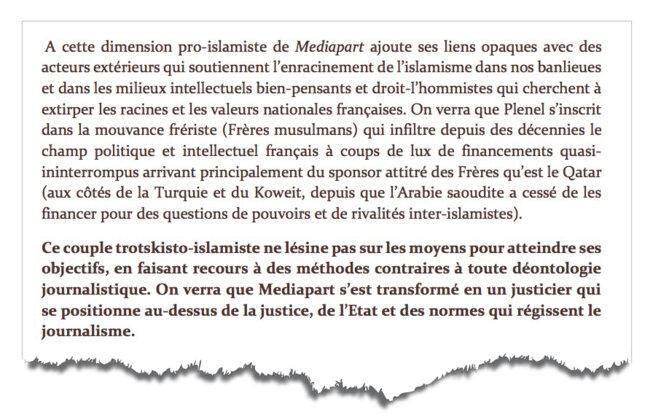Extrait du rapport sur Mediapart, page 60.