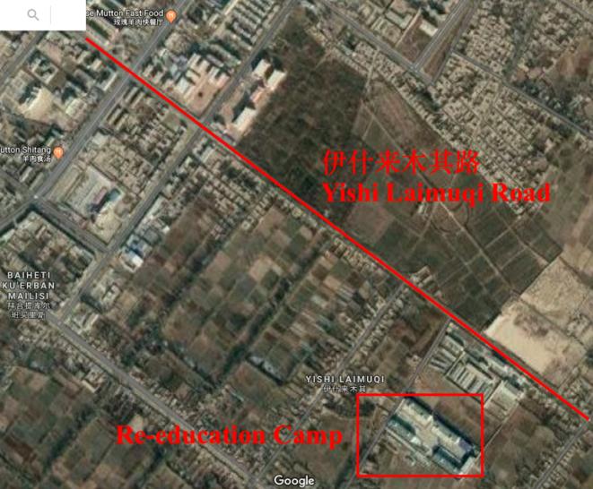 Nouveau camp de concentration dans la rue Ishlemchi, Kashgar Konashher, Xinjiang © Sh