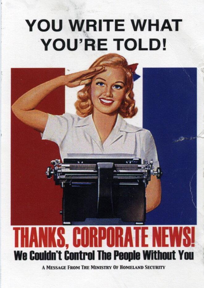 Press freedom speech propaganda poster © NR