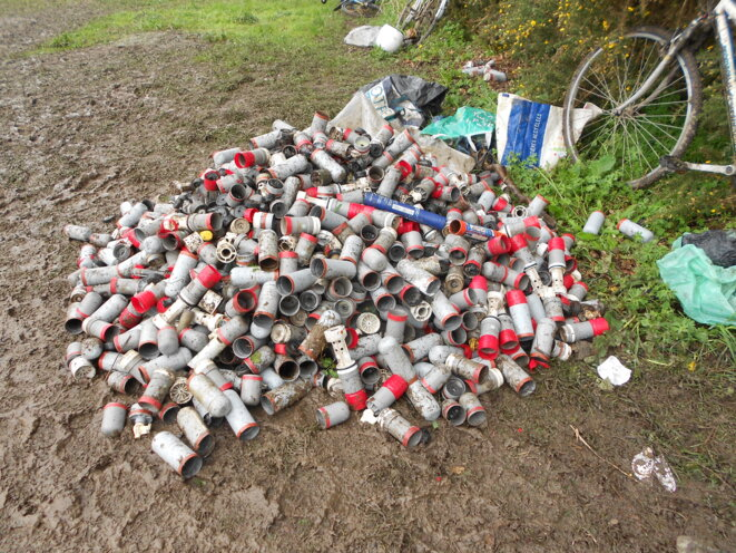 Stock de grenade deversées après seulement deux jours d'intervention en avril
