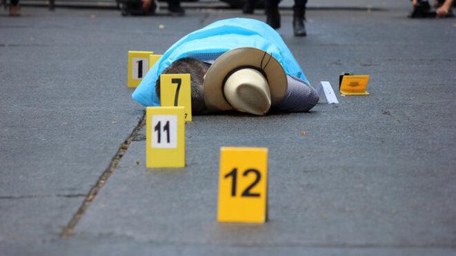 Le corps de Javier Valdez après l'attaque. © DR
