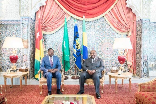 Le Président Faure Essozimna Gnassingbé du Togo et le Président Ali Bongo Ondimba du Gabon