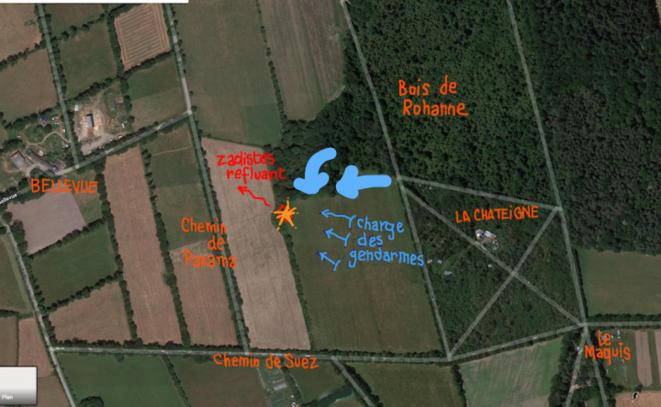 Carte de l'opération