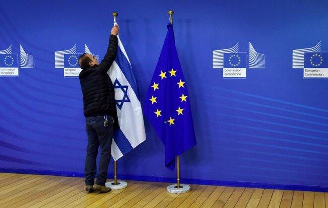 Lors de la visite de Benjamin Netanyahou à Bruxelles, le 11 décembre 2017. © Reuters