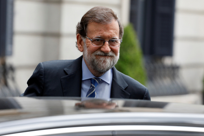 Mariano Rajoy à Madrid le 23 mai 2018 © Paul Hanna / Reuters.