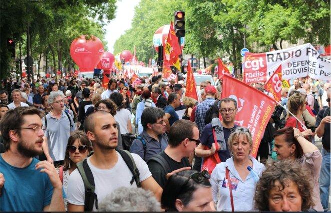 Dans la manifestation parisienne du 26 mai. © MG