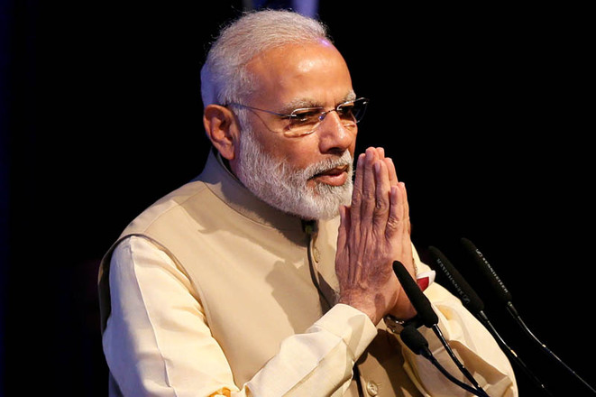 Indian Prime Minister Narendra Modi during the United UN Vesak Day Conference in Sri Lanka, May 12th 2017. © Reuters