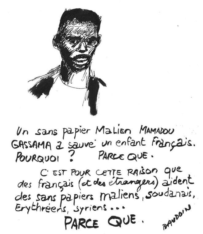 Illustration de Baudouin partagée sur les réseaux sociaux