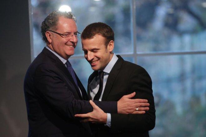 Richard Ferrand et Emmanuel Macron