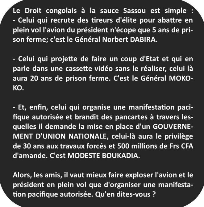 Le droit congolais à la sauce Sassou