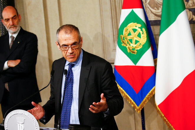 Carlo Cottarelli, el 28 de mayo de 2018. © Reuters