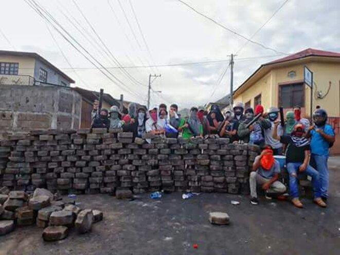 Barricades dans la ville de Matagalpa (Région centre pacifique)