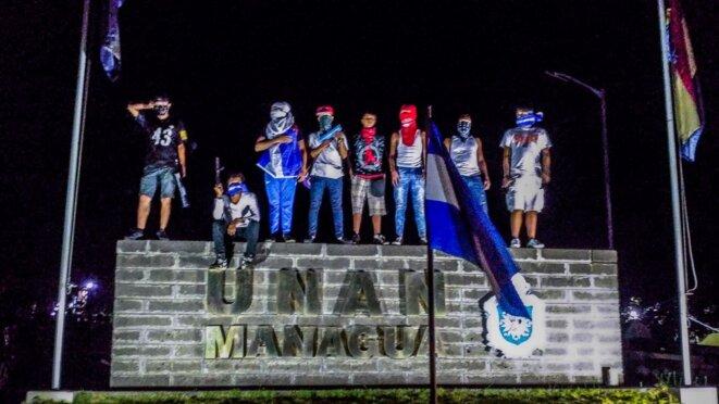 Etudiants de l'université nationale autonome (UNAN) Managua