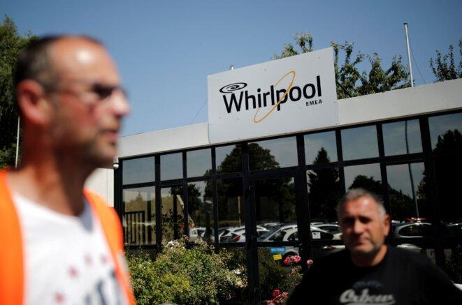 À l'entrée de l'usine Whirlpool, à Amiens. © Reuters/Benoit Tessier