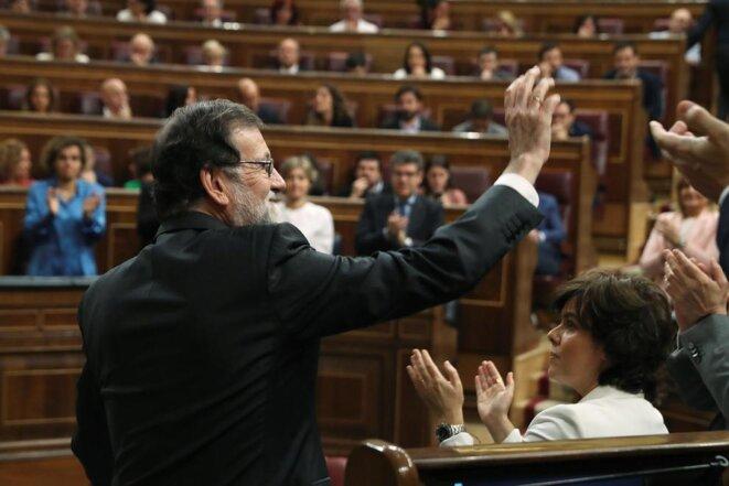Mariano Rajoy en el Congreso de los Diputados, el 1 de junio de 2018. © infoLibre