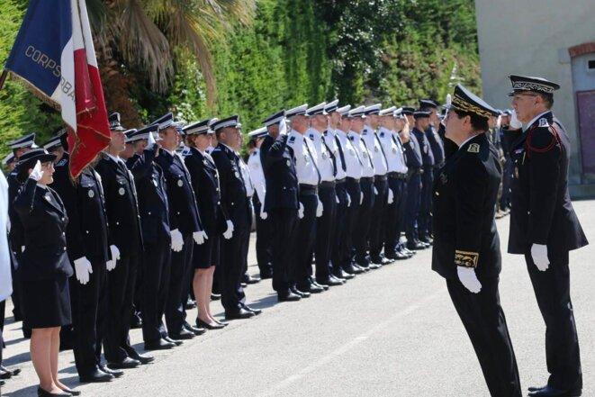 Cérémonie en l'honneur des morts de la Police le 1er juin 2018 à Nice © Nice-Matin