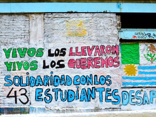 The students from Ayotzinapa college disappeared.