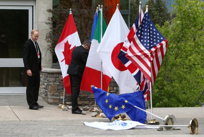 Avant el sommet du G7 au Canada le 2 juin © Reuters