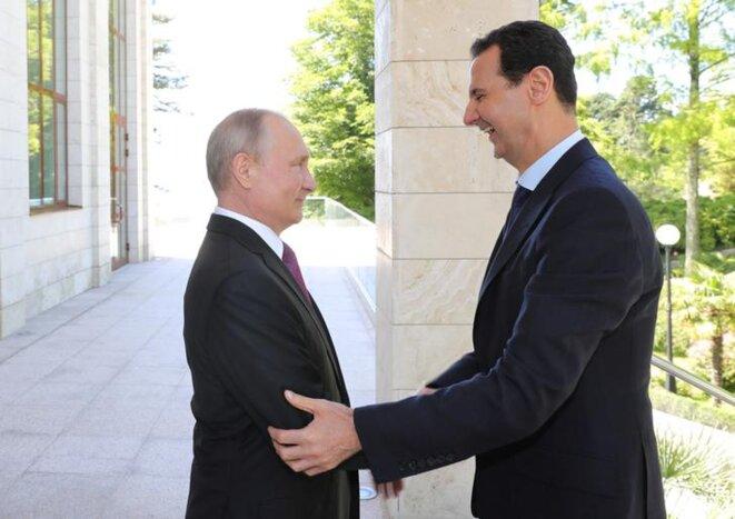 Vladimir Poutine a reçu Bachar al-Assad le 18 mai à Sotchi. © Reuters