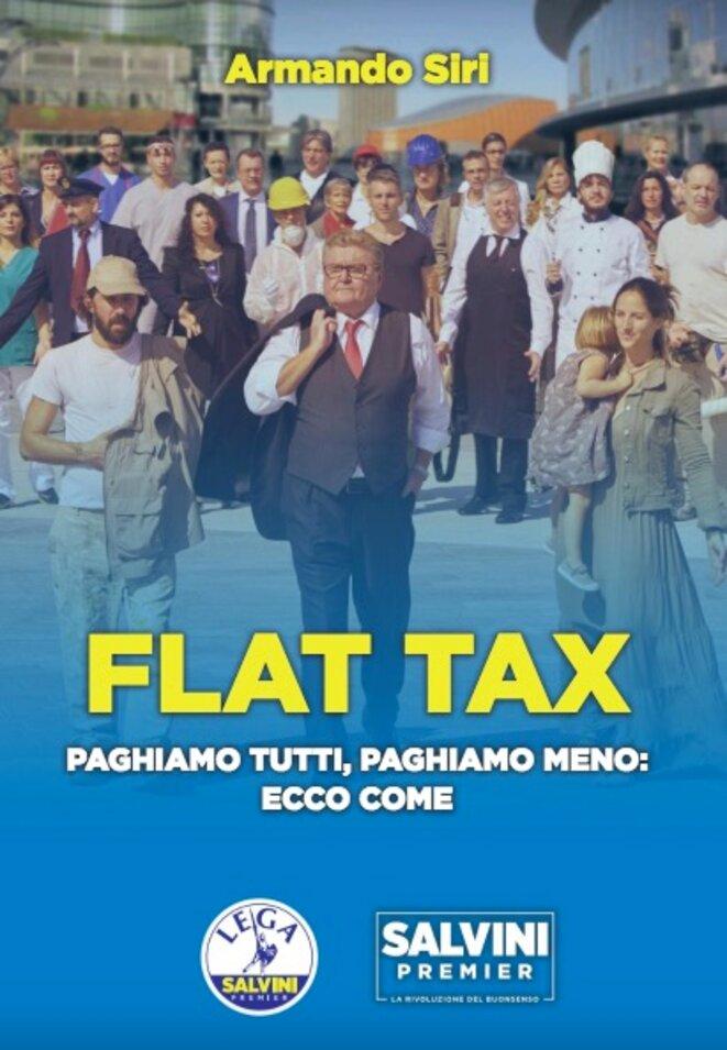 Page de garde de la brochure sur la flat tax de la Ligue. © DR