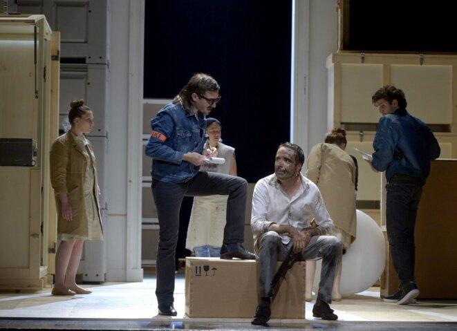 «L'Avare» de Molière, mis en scène par Ludovic Lagarde, avec Leurent Poitrenaux dans le rôle titre. © Pascal GELY