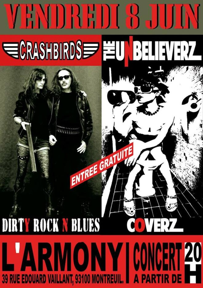 Crashbird et The Unbelieverz