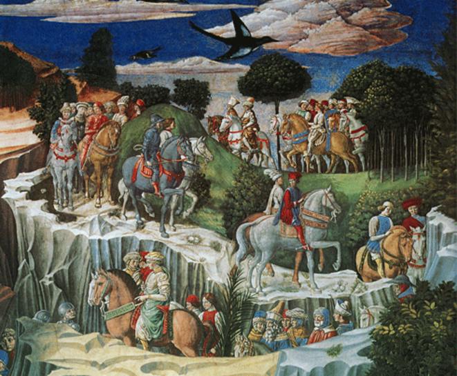 gozzoli-chapelle-medicis-le-cortege-des-rois-mages