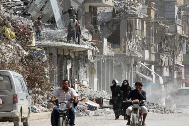 Les ruines de Raqqa, mai 2018, plus de six mois après la «libération» de la ville. © Reuters