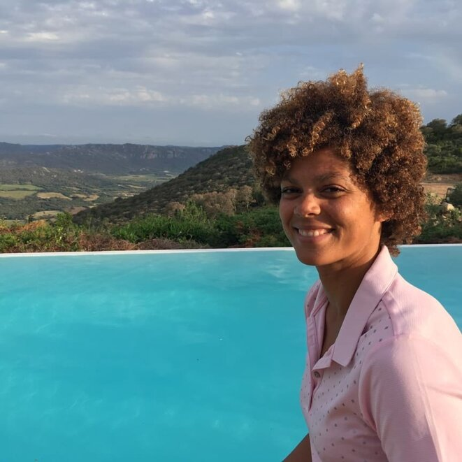 Coralie Balmy le 4 juin 2018 en Corse.