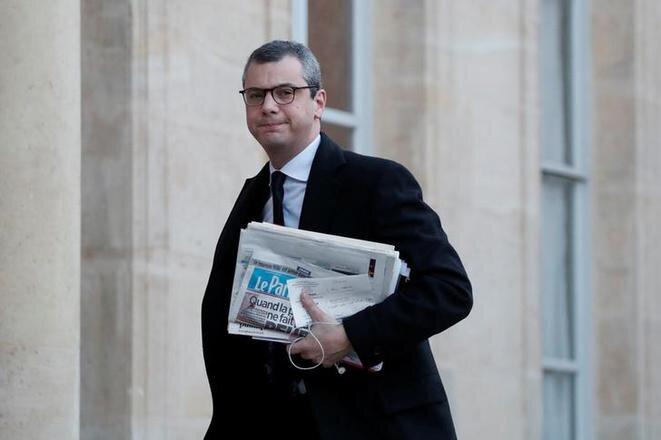 Alexis Kohler en la entrada del Elíseo, el 3 de enero de 2018. © Reuters