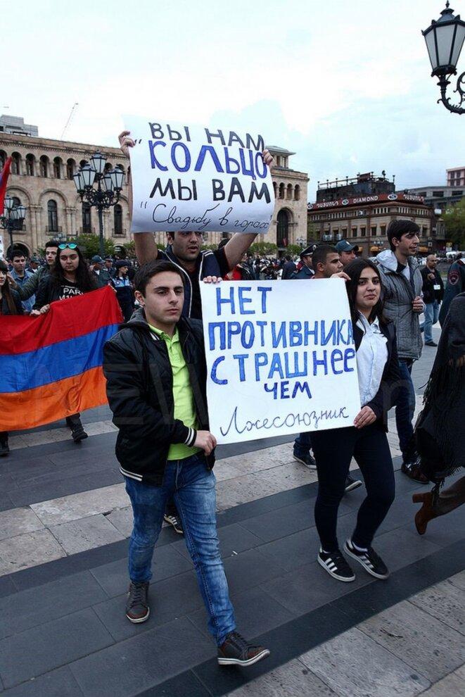 Manifestation en Arménie