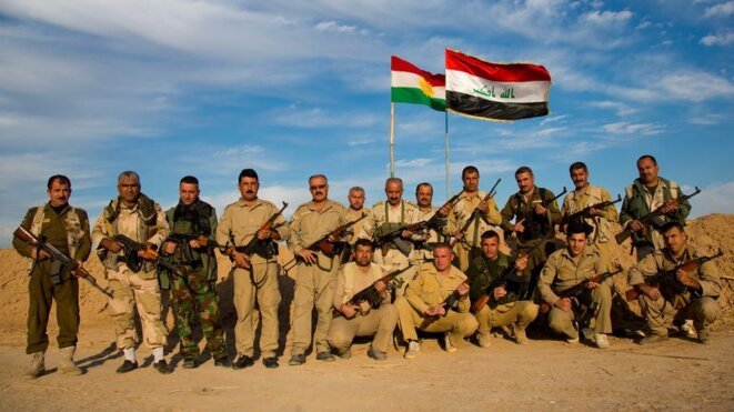 Des Peshmergas dans la ville de Kirkouk en 2017