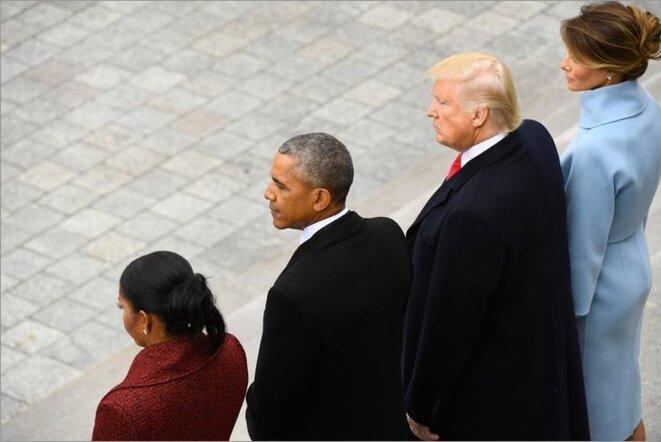 Lors de la passation de pouvoir à Washington, le 20 janvier 2017. © Reuters