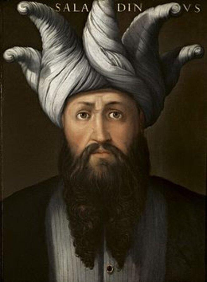 Portrait de Saladin par Cristofano dell'Altissimo, vers 1552 -1558