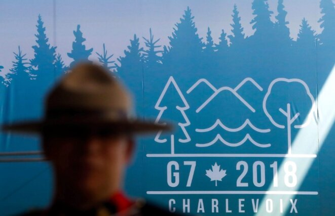 En amont du sommet du G7 à Charlevoix, au Québec. © Reuters