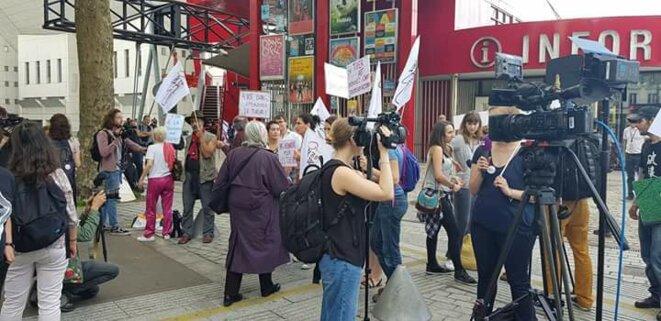 """Une poignée de """"féministes"""" moralisatrices, une poignée un peu plus grosse de journalistes - Photo Olivier Rudyfm"""