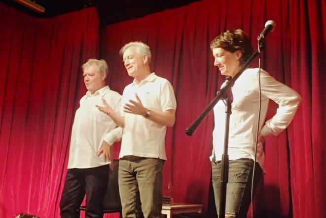 Bernard GAIGNIER, Patrick MOTTARD et Sabine VENARUZZO, au final © Didier CODANI