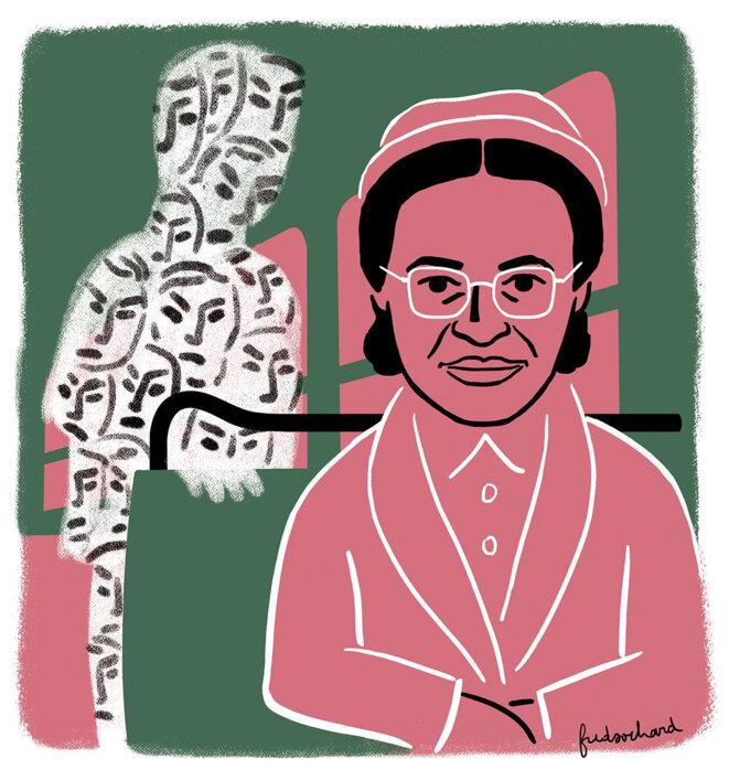 Rosa Parks par Fred Sochard pour « Les Utopiques » n°8 © Fred Sochard