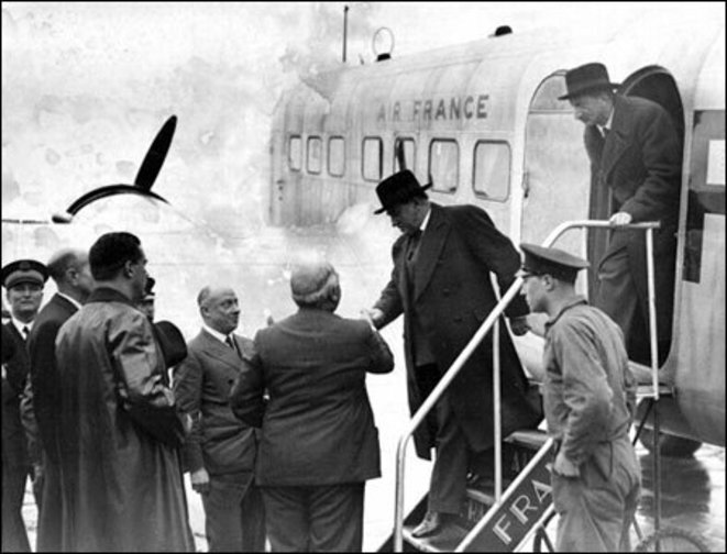 Daladier arrive au Bourget