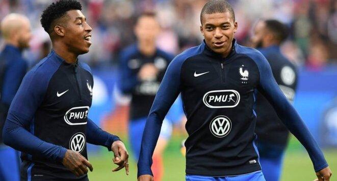 Presnel Kimpembe et Kyllian MBappé, les deux jeunes parisiens, participent à leur première coupe du monde avec la France.