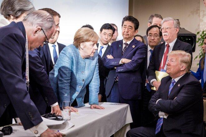 Au sommet du G7, ce week-end. © Jasco Denzel/Chancellerie allemande