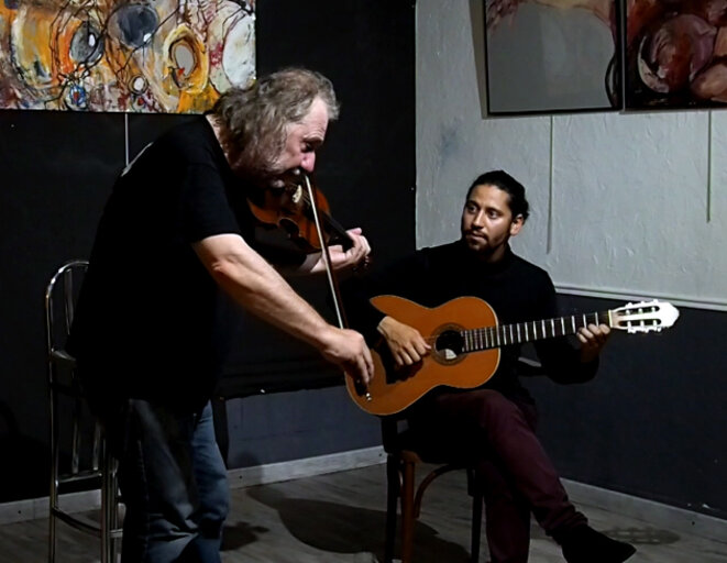 Yves Teicher et Henrique Carvalho Mendes Santos, le 8 juin 2018