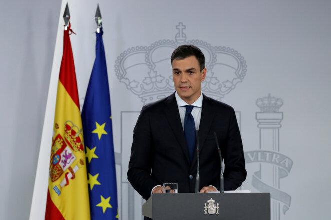 Pedro Sánchez le 6 juin 2018 à la Moncloa. © Susana Vera/Reuters
