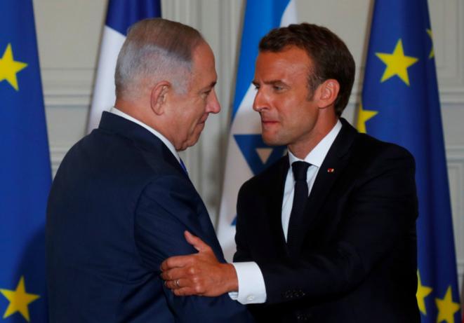 Conférence de presse: Benyamin Netanyahu, Emmanuel Macron