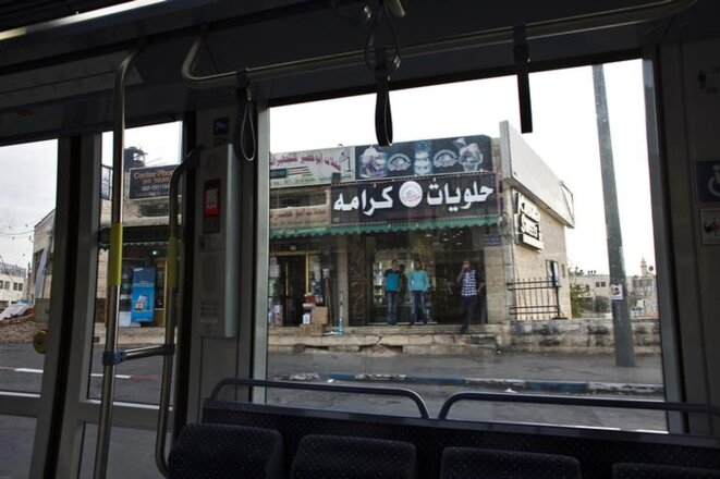 Sur la première ligne de tramway, en 2014. © Reuters