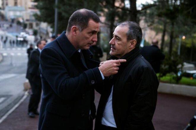 Gilles Simeoni et Jean-Guy Talamoni à Bastia, le 7 février. © Reuters