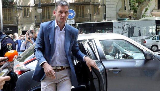 Iñaki Urdangarin, a su llegada a la Audiencia de Palma. © infoLibre