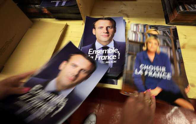 The 'Macron Leaks' data dump came 48 hours before Emmanuel Macron faced the final contest against far-right leader Marine Le Pen. © Reuters