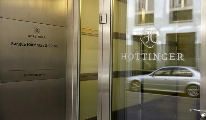 Le siège de la banque Hottinger à Zurich, en 2015. © Reuters